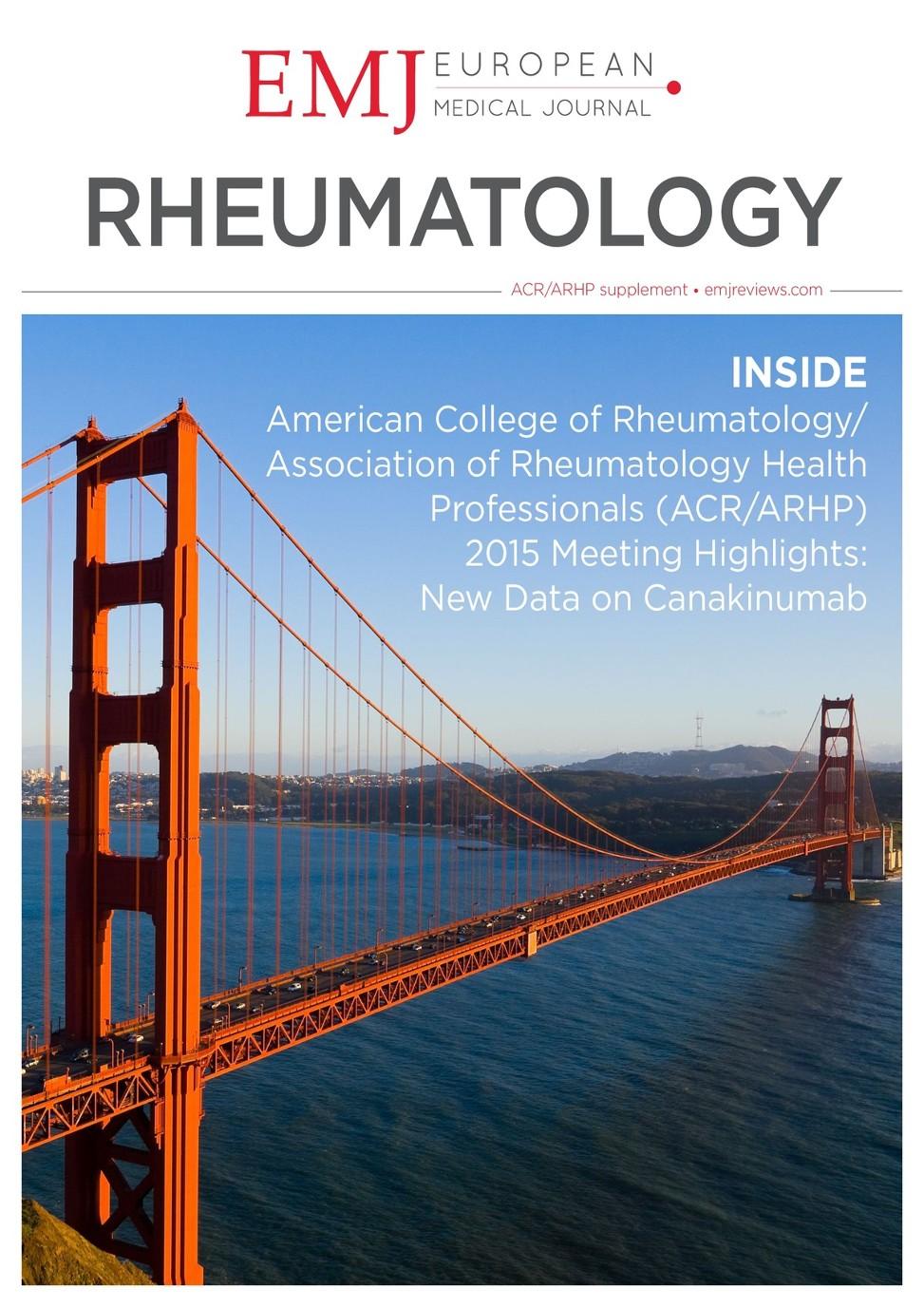 EMJ Rheumatology 3 [Suppl 5] 2016 - European Medical Journal