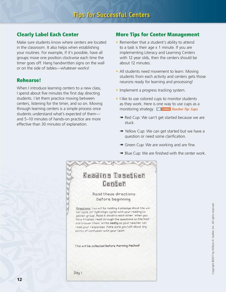 Progress ELA, Centers-Based Implementation Guide