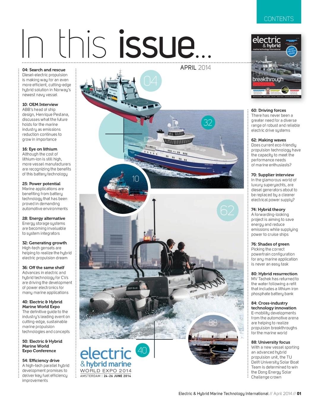 April 2014 Electric & Hybrid Marine Technology International