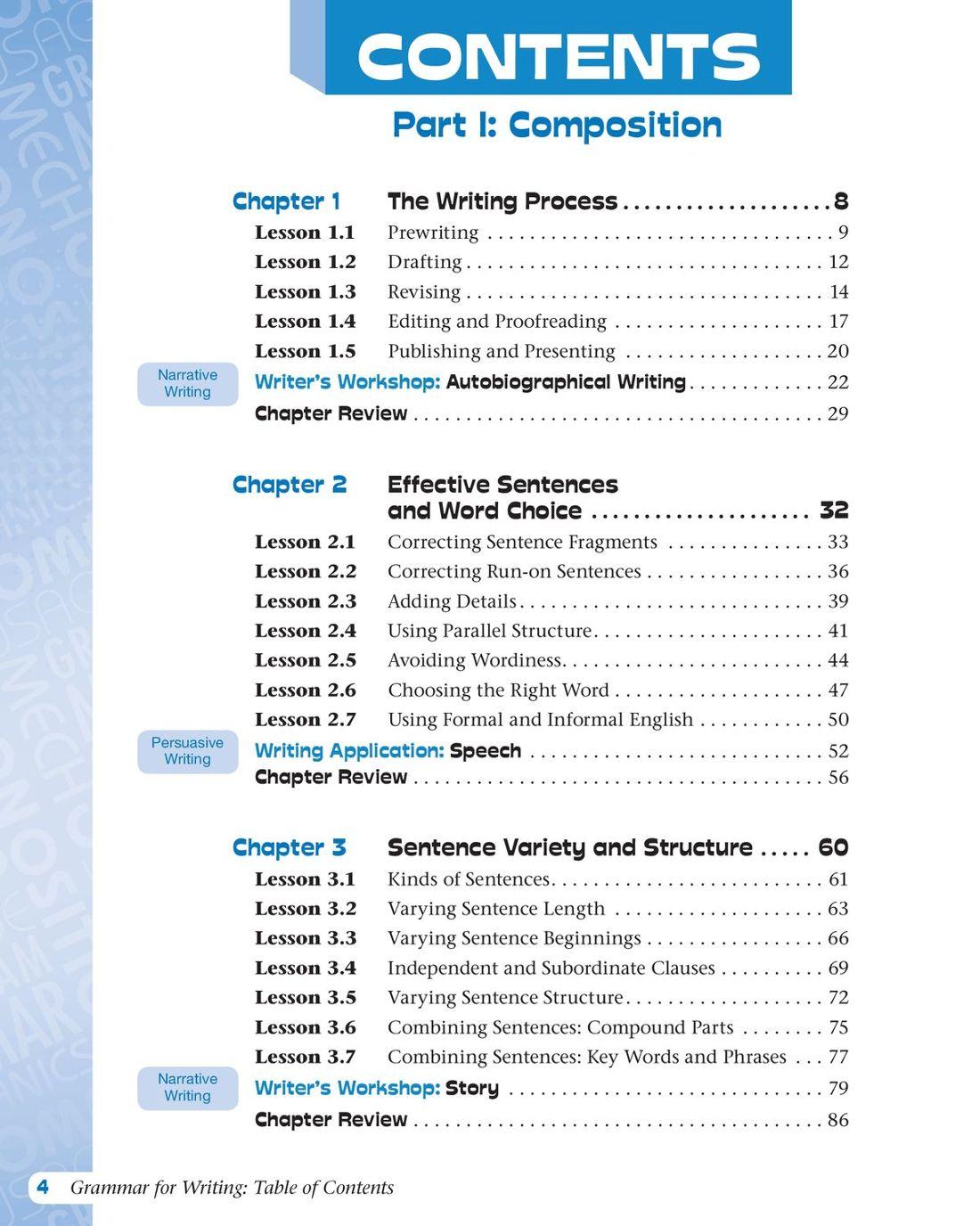 Grammar for Writing, Level Purple (Grade 7), Student Edition