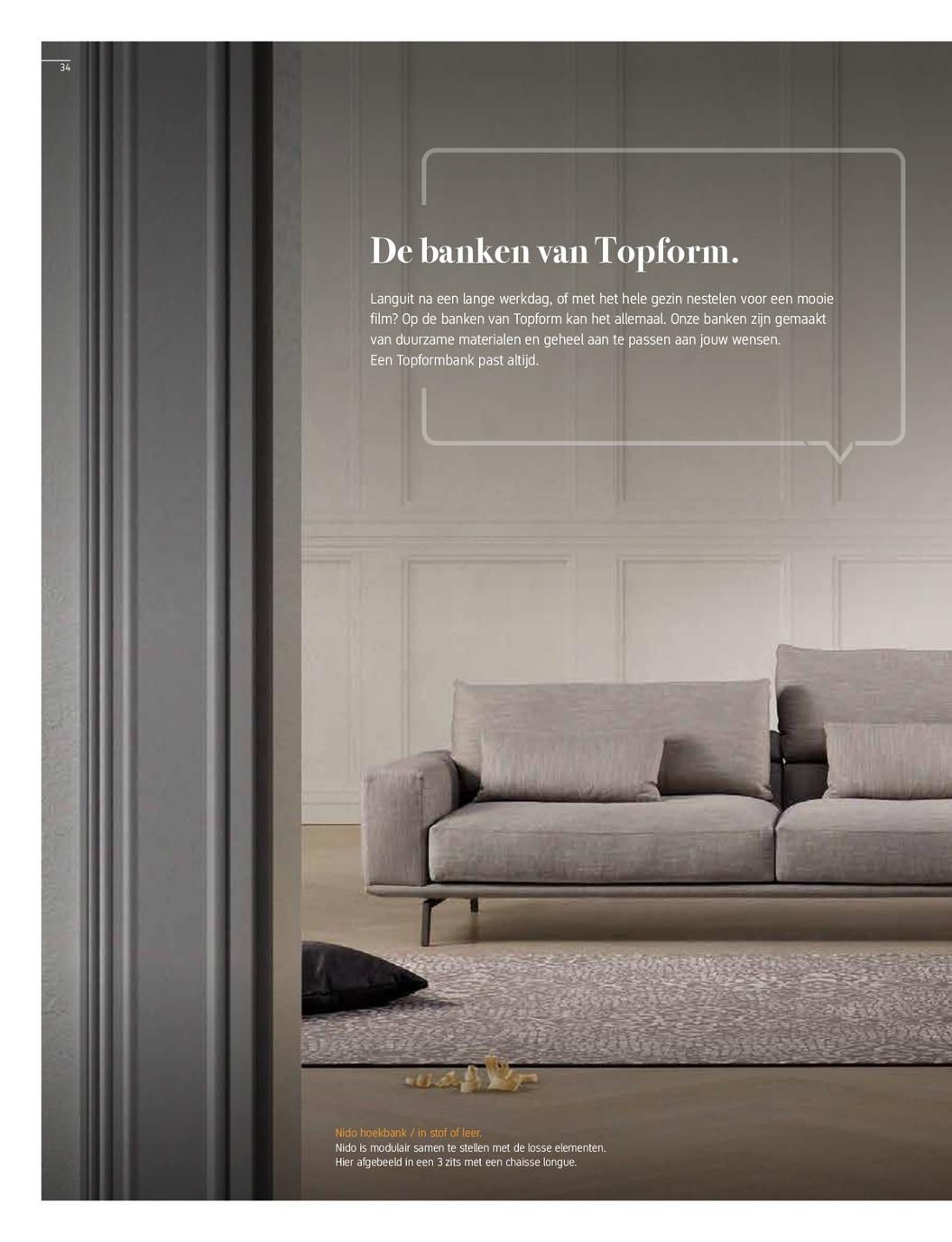 Grote Hoekbank Leer.Topform Collectieboek 2018