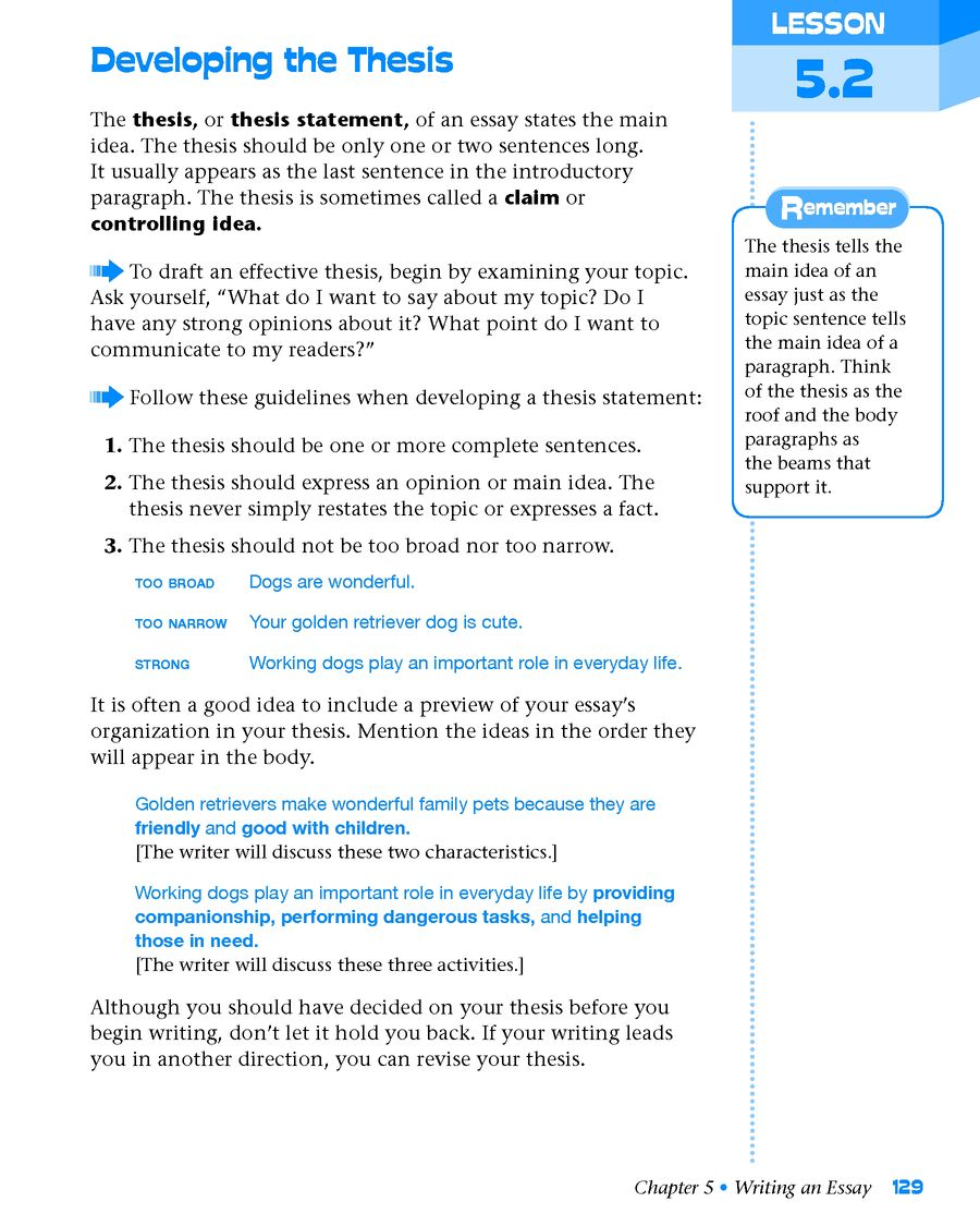 grammar for writing level yellow grade  student edition page