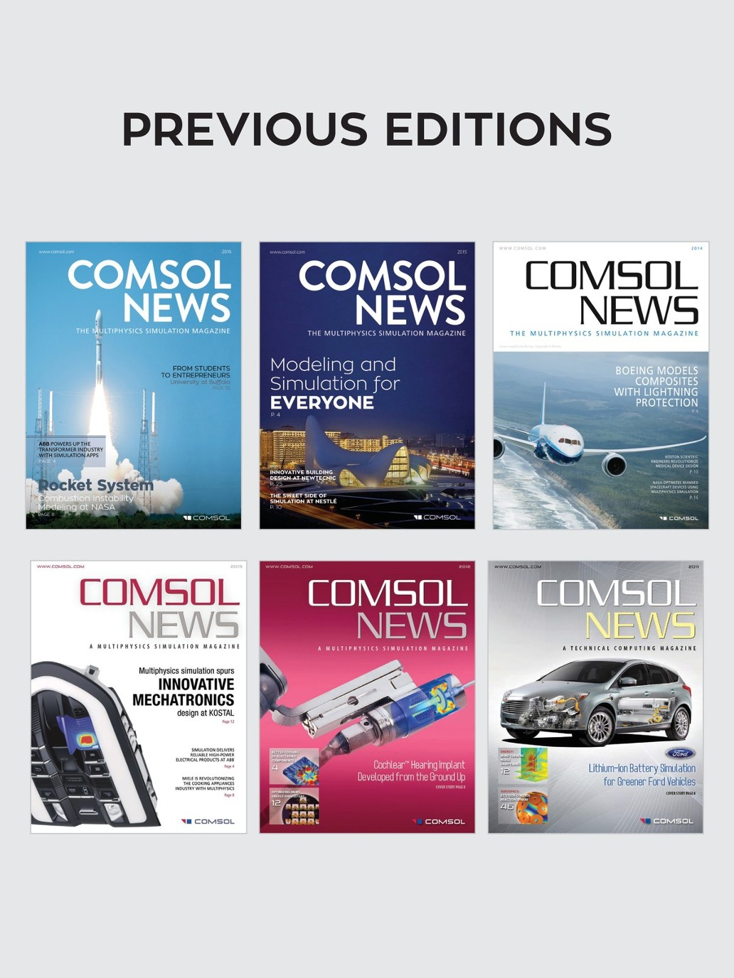 COMSOL News 2017: A Multiphysics Simulation Magazine