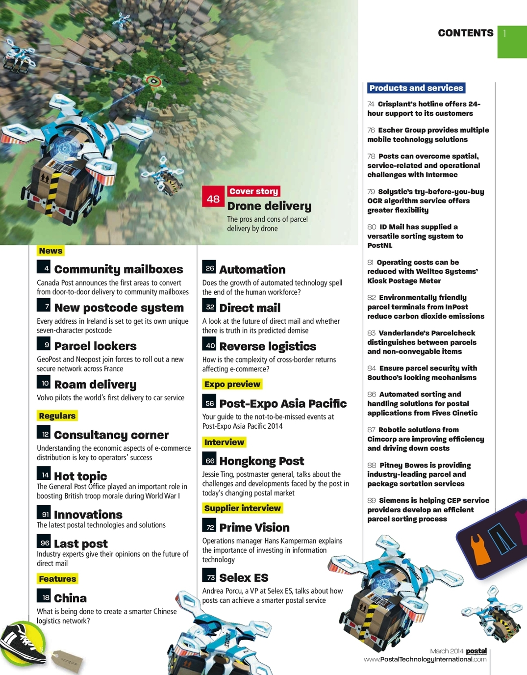 March 2014 Postal and Parcel Technology International - UKi