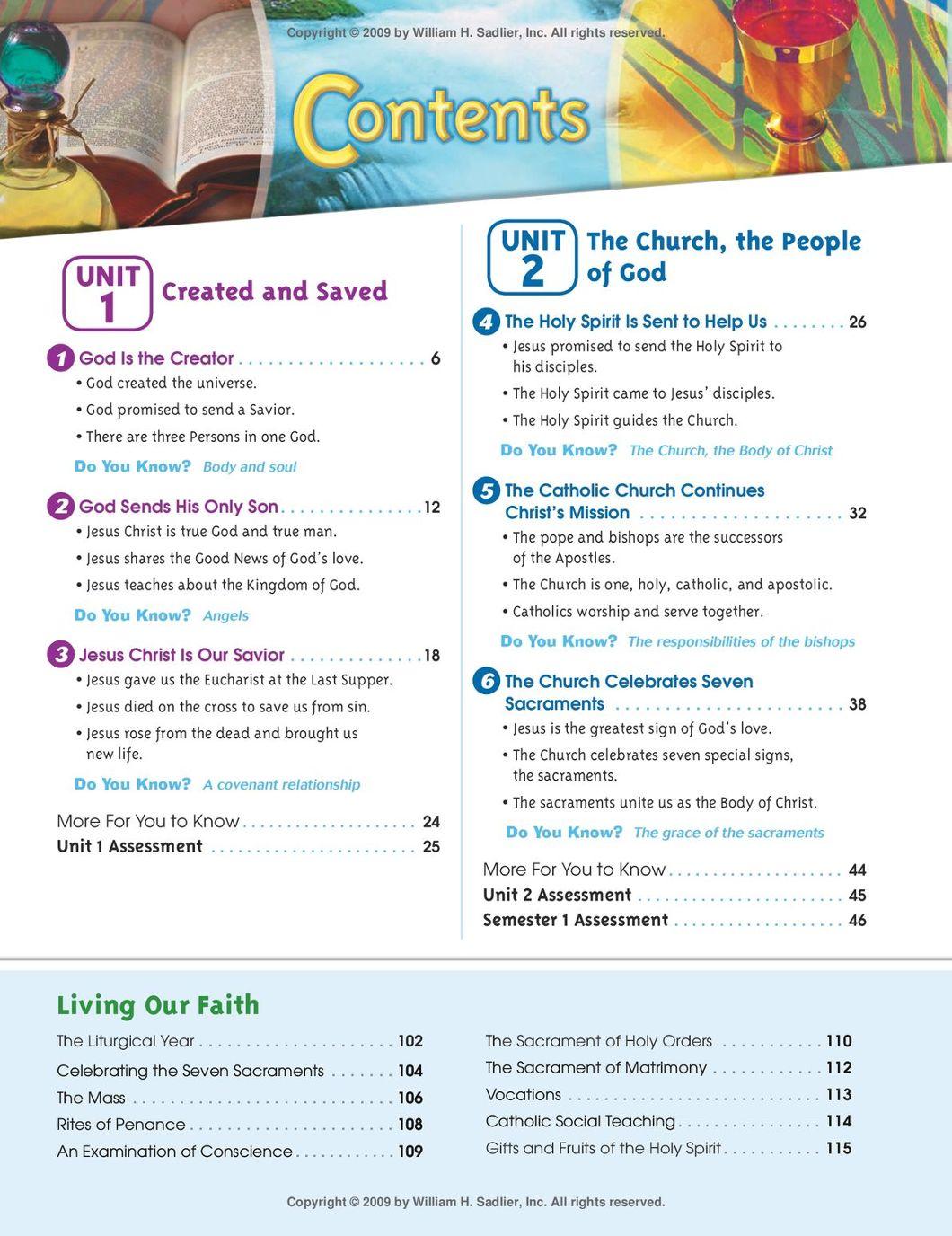 Our Catholic Faith One Faith One Lord English Edition