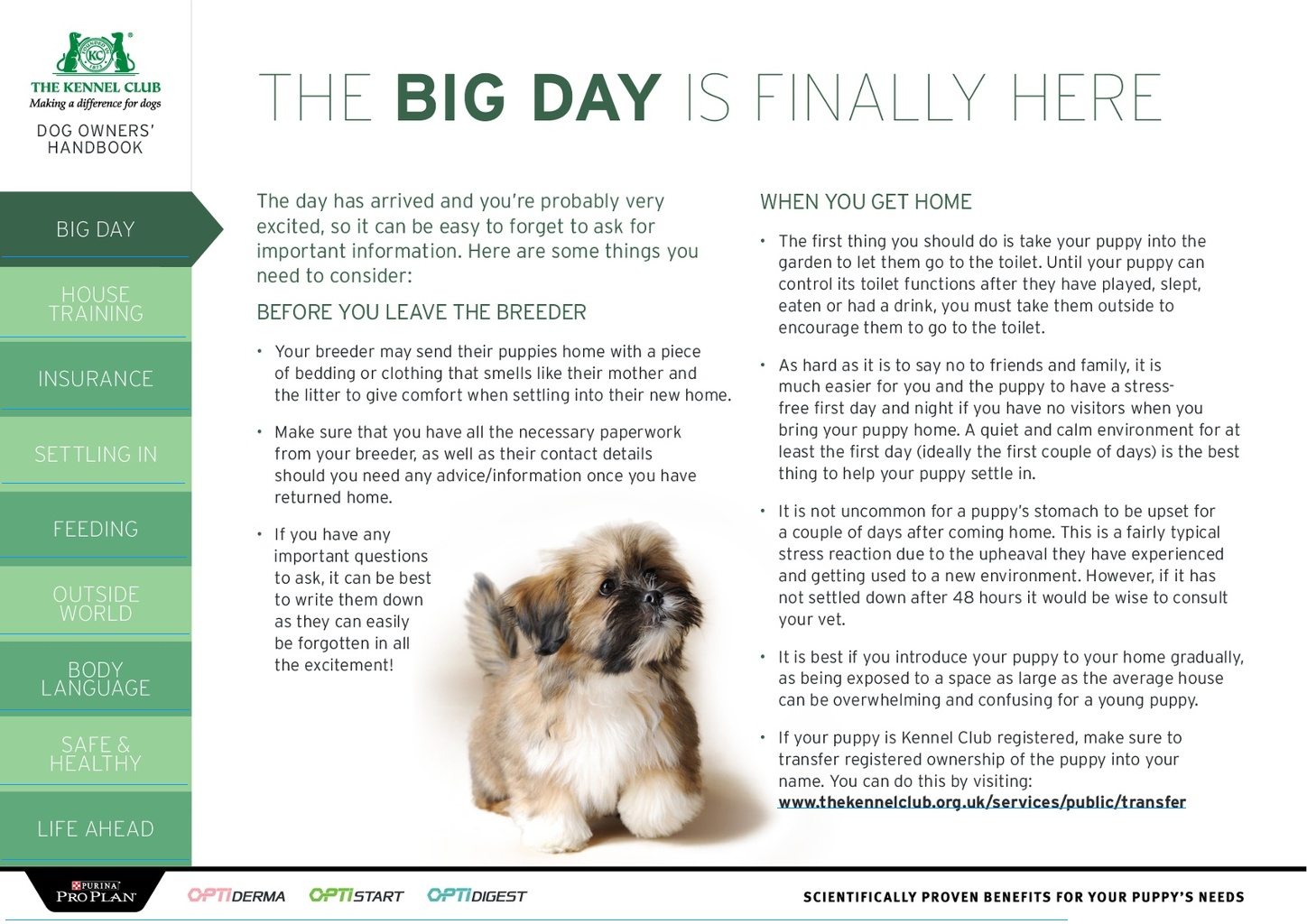 The Dog Owners' Handbook • The Kennel Club