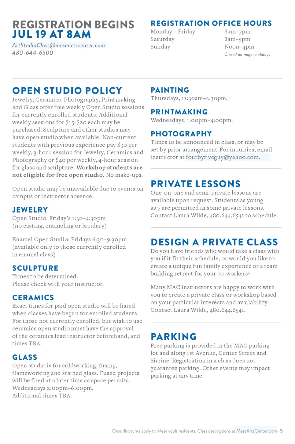 Arts Classes - Drama, Music, Painting, Ceramics, & Dance
