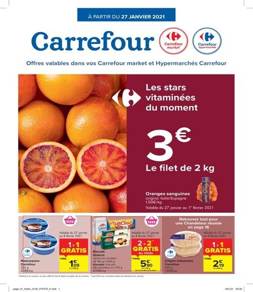 Carrefour : offres valables à partir du 27 janvier