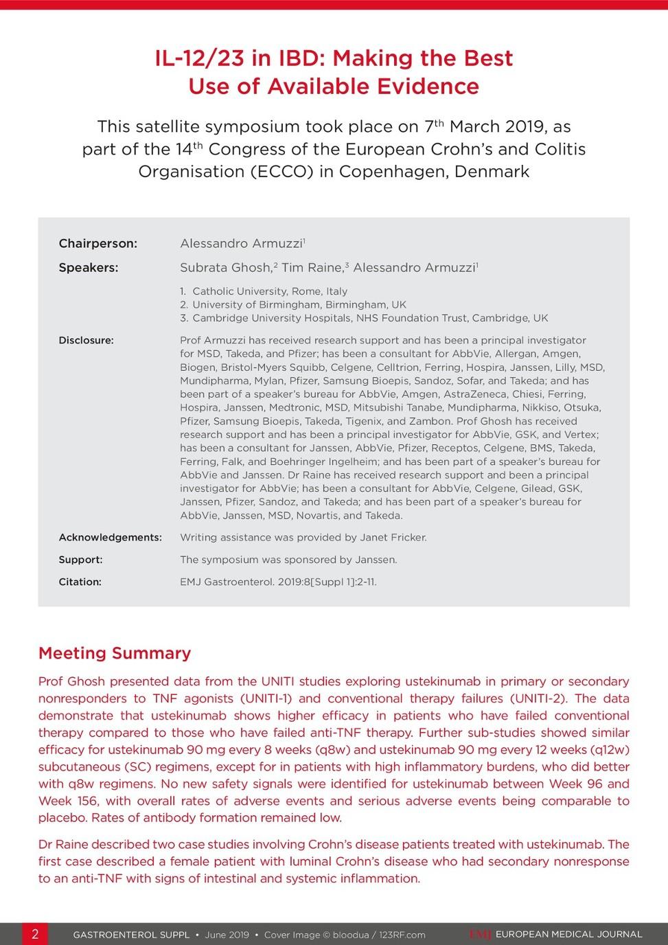 EMJ Gastroenterology 8 [Suppl 1] 2019 - European Medical Journal