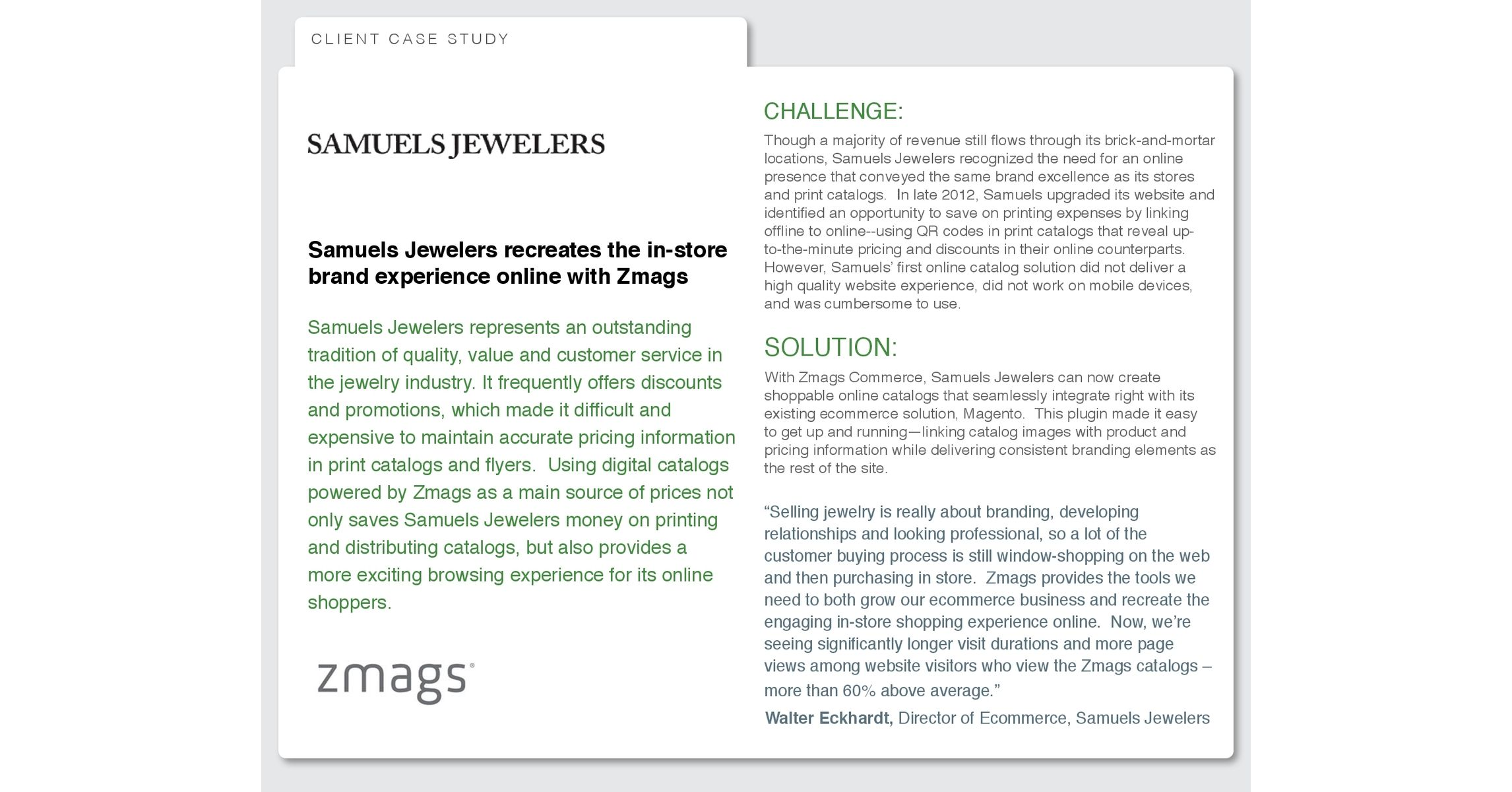 hallstead jewelers case analysis Hallstead jewelers - a retail jeweler has relocated to a larger store and is experiencing losses for the first time request case study solution.
