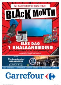 Carrefour folder: Black Month : elke dag 1 knalaanbieding!