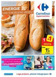 Carrefour folder: Energie van's morgens vroeg : aanbiedingen geldig vanaf 10 januari