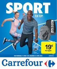 Carrefour folder: Sport ten top : aanbiedingen geldig vanaf 11 april