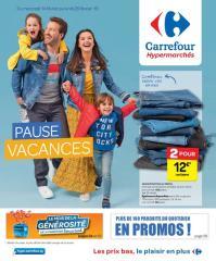 Carrefour folder: Pause vacances  :  offres valables à partir du 14 février