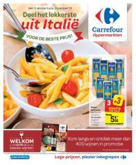 Carrefour folder: Deel het lekkerste uit Italië : aanbiedingen geldig vanaf 11 oktober