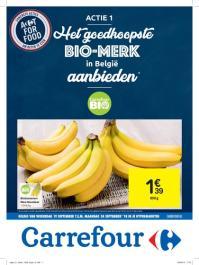 Carrefour folder: Het goedkoopste BIO-merk in België aanbieden : aanbiedingen geldig vanaf 19 september