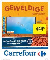 Carrefour folder: Geweldige herfstpromoties : aanbiedingen geldig vanaf 26 september