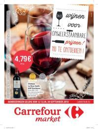 Carrefour folder: Onze wijnen voor onweerstaanbare prijzen : aanbiedingen geldig vanaf 12 september