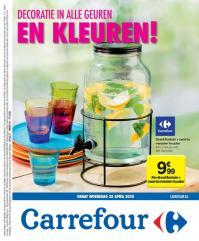 Carrefour folder: Decoratie in alle geuren en kleuren : aanbiedingen geldig vanaf 25 april